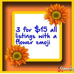 Bundke 3 items with a 🌻 for $15